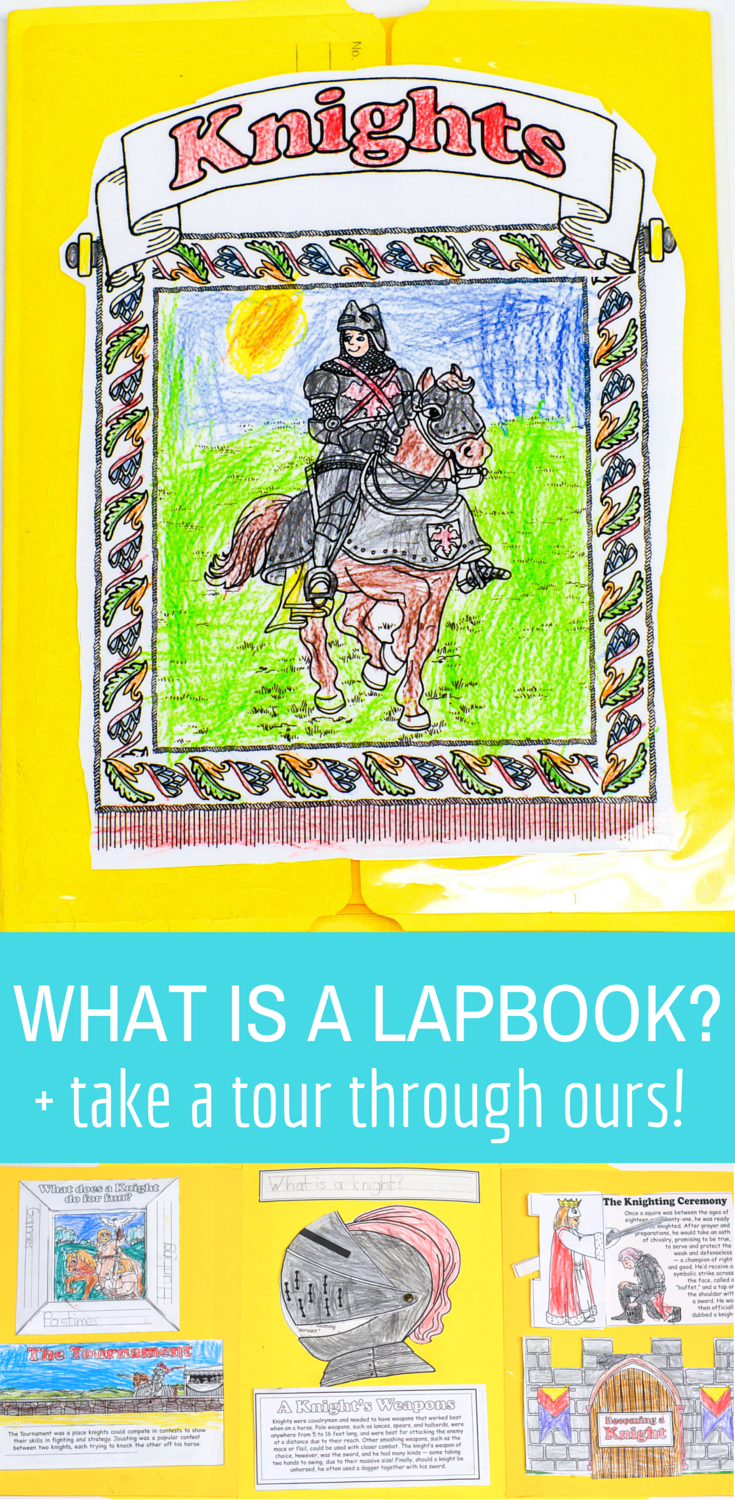 What is a lapbook? Come take a tour through ours and learn how you can use this in your homeschool to blend subjects and grades together with ease! homeschool lapbook, homeschool lap book, homeschool lapbooking, middle ages lapbook, lapbook ideas | lapbook templates | lapbook printables | lapbooking | lap book | lap books | lap book ideas | lap book templates | lap books for first grade