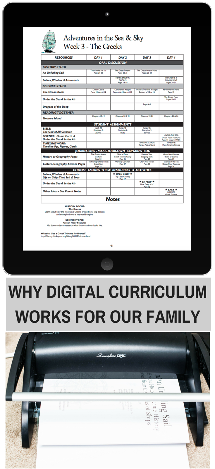 Why Digital Curriculum Works for Our Family: WinterPromise Review | Adventures in the Sea and Sky | Winter Promise | Digital Curriculum | ebooks versus print | homeschool curriculum |
