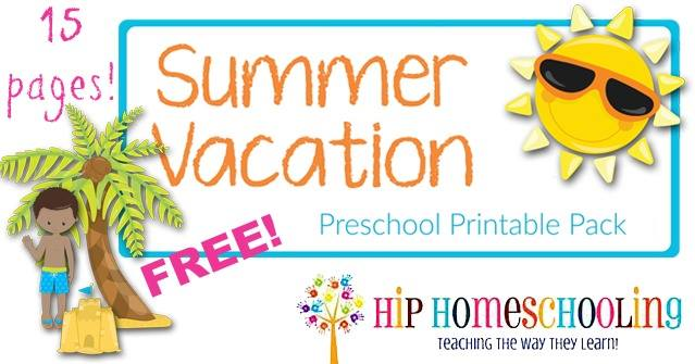 Your Preschooler will Love this New, Bright Summer Printable Pack!