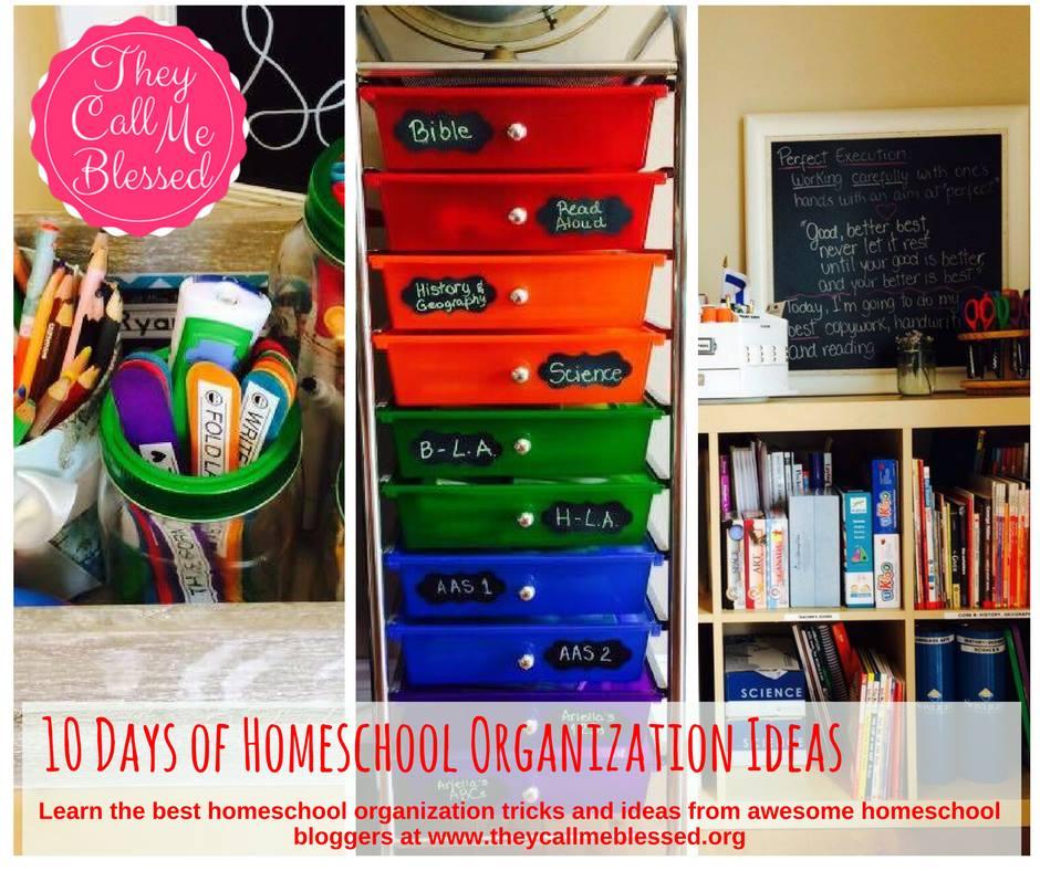 10 days of homeschool organization