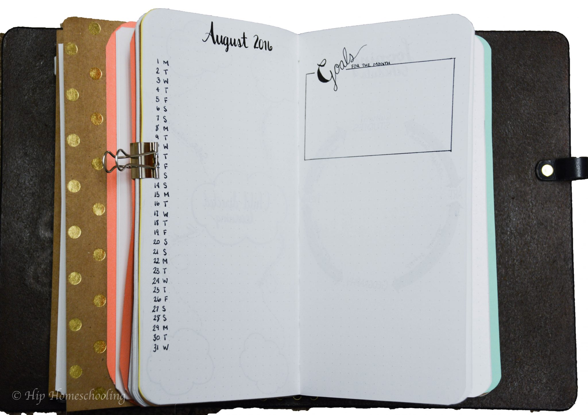 homeschool planning: my monthly spread