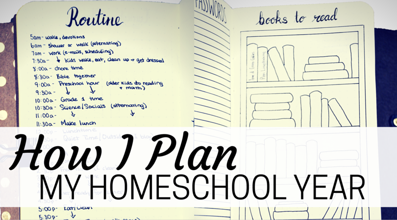 How I Plan and Organize My Homeschool Year