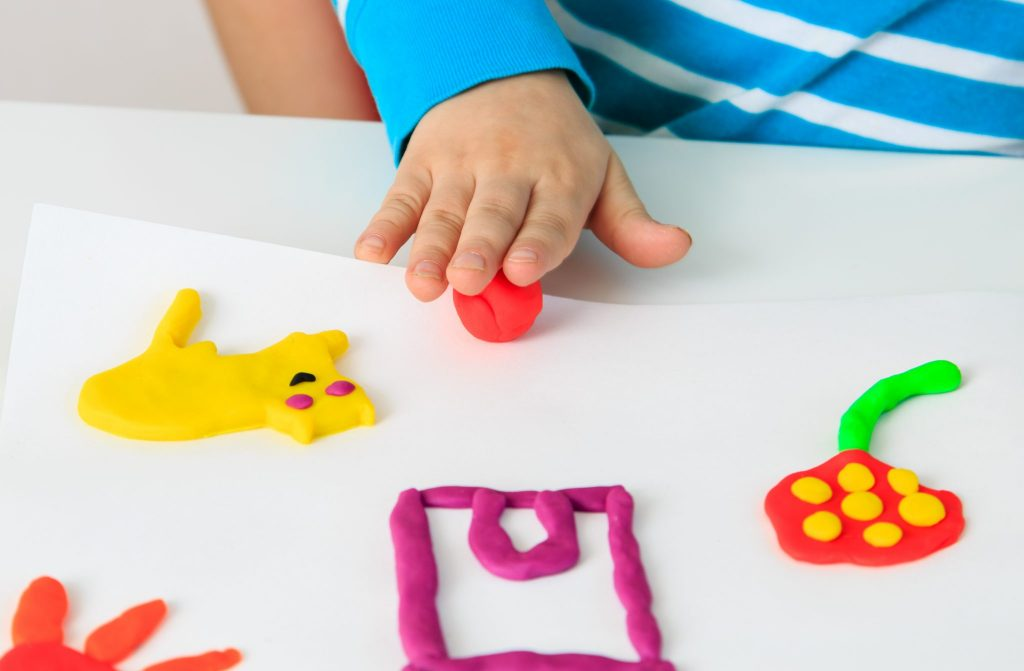 child directed learning with play dough