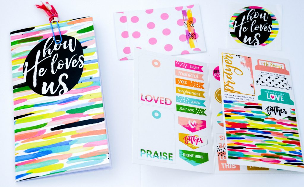 How He Loves us Devotional Kit from Illustrated Faith for Bible Journaling Supplies