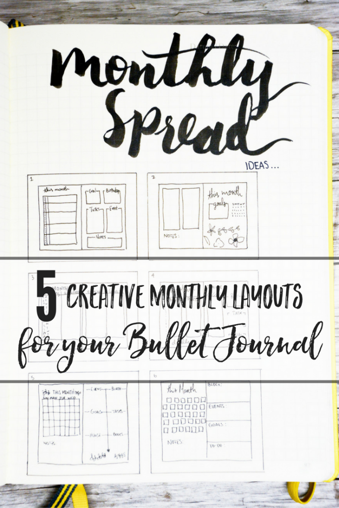 5 Creative monthly spread layouts for your bullet journal | bullet journal monthly spread | bullet journal monthly layout | bullet journal monthly tracker | bullet journal monthly calendar | bullet journal monthly setup | bullet journal monthly log ideas | bullet journal monthly taste | bullet journal monthly november | bullet journal monthly overview | bullet journal monthly goals | bullet journal setup |bullet journal future log | bullet journal layout