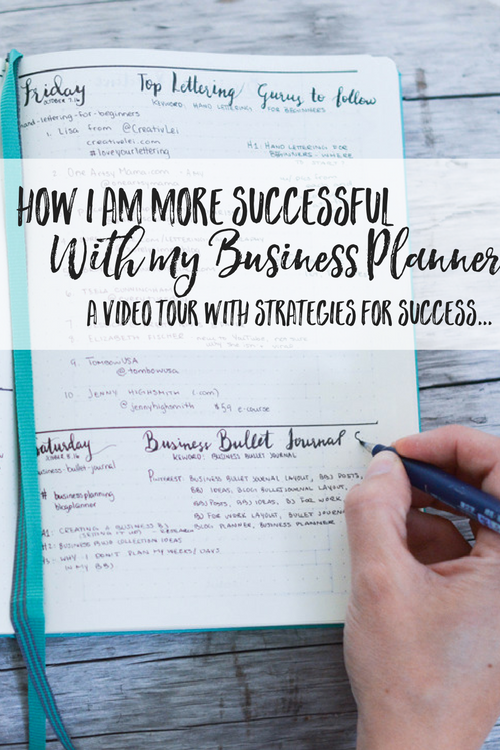 How I am more successful with my Business Planner: Business Bullet Journal Video Walkthrough | business planning | business planner | blog planning | blog planner | blogging planner | blog bullet journal | business bullet journal | business bullet journal layout | business bullet journal posts | business bullet journal ideas | blog bullet journal layout | blog bullet journal posts | blog bullet journal ideas | bullet journal for work | bullet journal for work layout | bullet journaling ideas