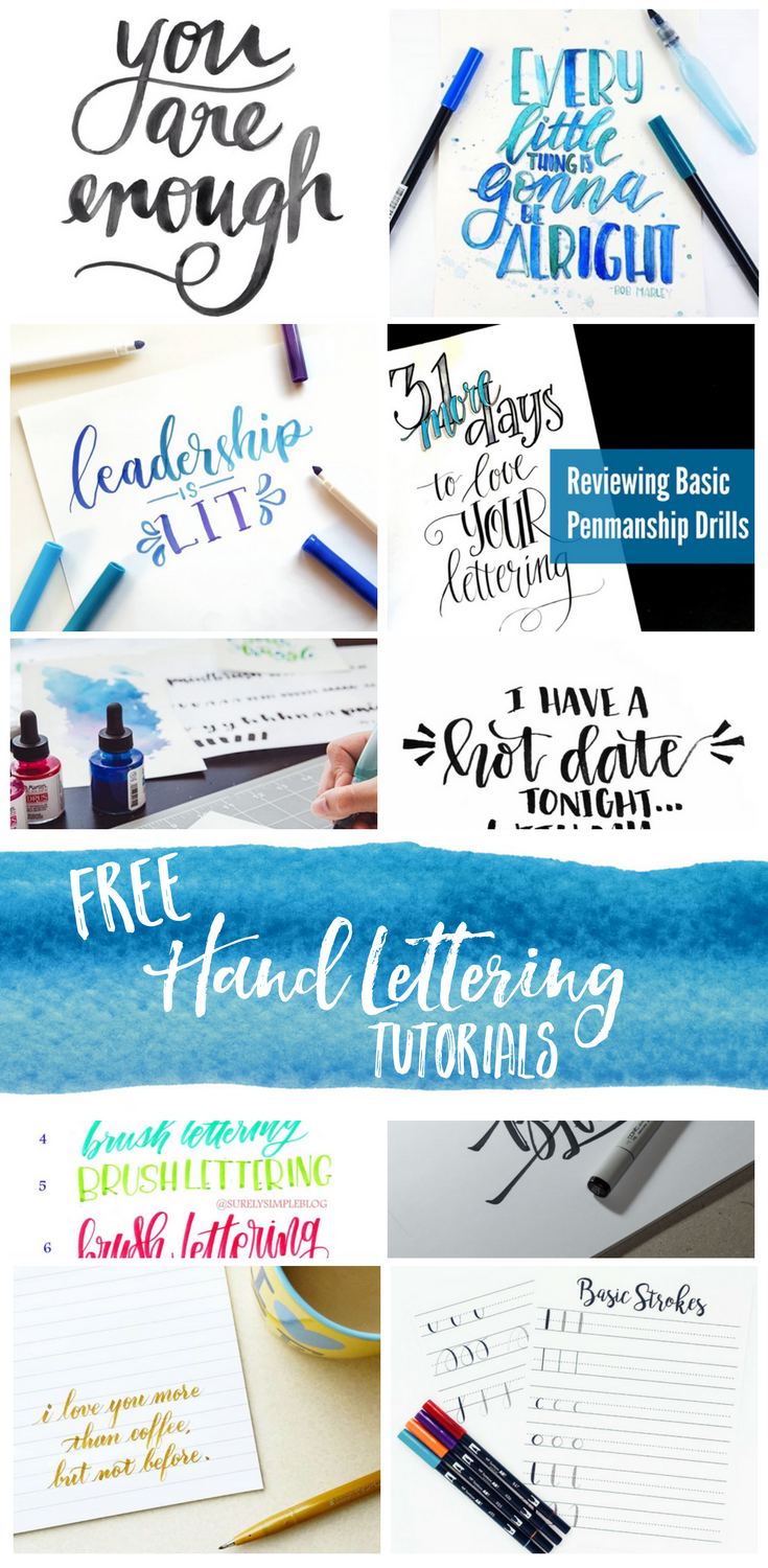 Hand Lettering for Beginners: Free tutorials, videos and resources! hand lettering | how to brush letter | brush lettering for beginners | hand lettering | Brush lettering practise | brush lettering tools | brush lettering pens | fudenosuke | brush lettering free | how to do brush lettering