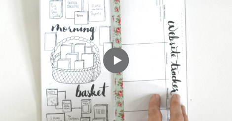 Homeschool Bullet Journal Video