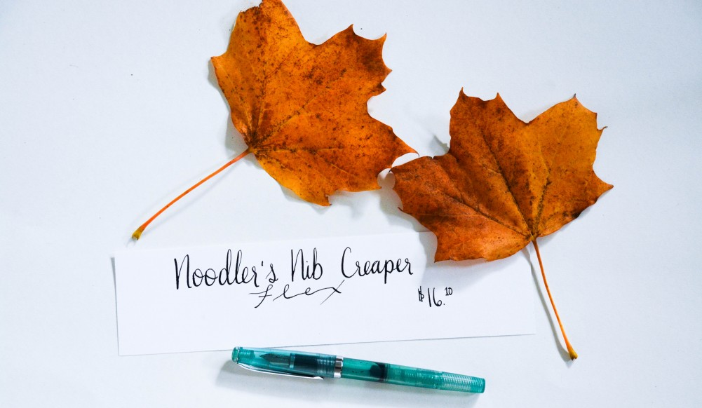 Writing with a Fountain Pen: Noodlers Creaper Flex