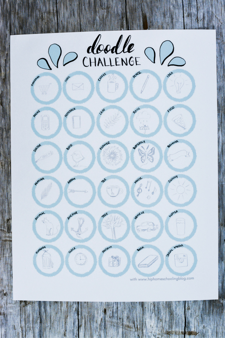 Free 30 Day Doodle Challenge Printable | doodle challenge ideas | doodle challenge bullet journal | november doodle challenge | beginner doodle challenge | instagram doodle challenge | bullet journal doodles | beginner doodles | how to doodle | planner doodles | simple doodles | easy doodles