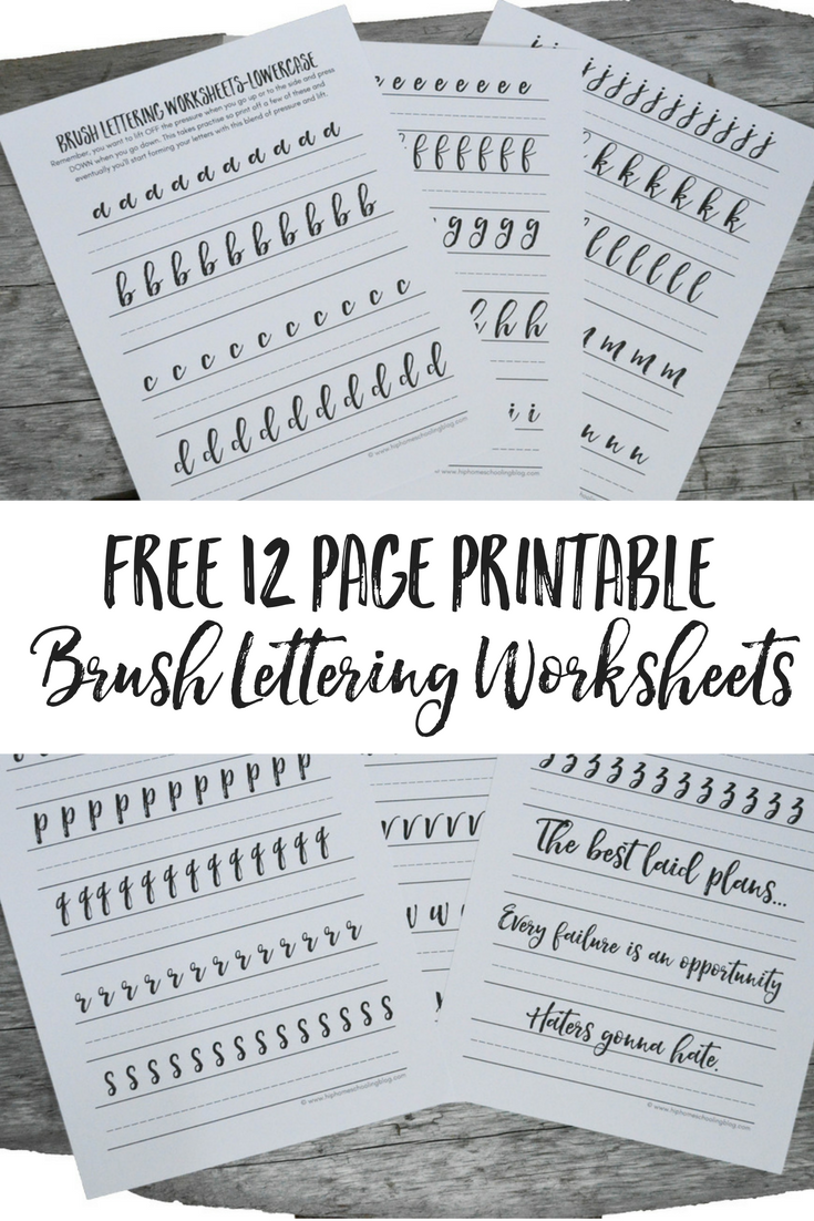6 Resources for Free Lettering Worksheets | Tombow, Brush pen and ...