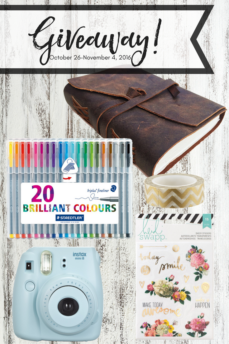 HUGE Stationary Giveaway! Journal giveaway | staedtler pen | staedtler pen giveaway | pen giveaway | instax camera | instax giveaway | stickers | planner stickers | sticker giveaway | washi tape | washi tape giveaway | pen giveaway | marker giveaway