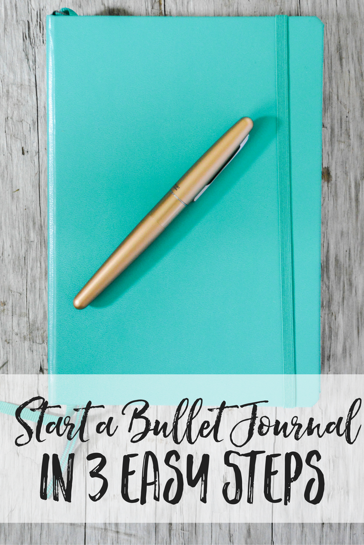 Start a Bullet Journal in 3 Easy Steps! Bullet journaling | bujo | bullet journal layouts | bullet journal ideas | bullet journal in a travelers notebook | travelers notebook bullet journal | minimalistic bullet journal | homeschool bullet journal | goulet pens | bullet journal giveaway