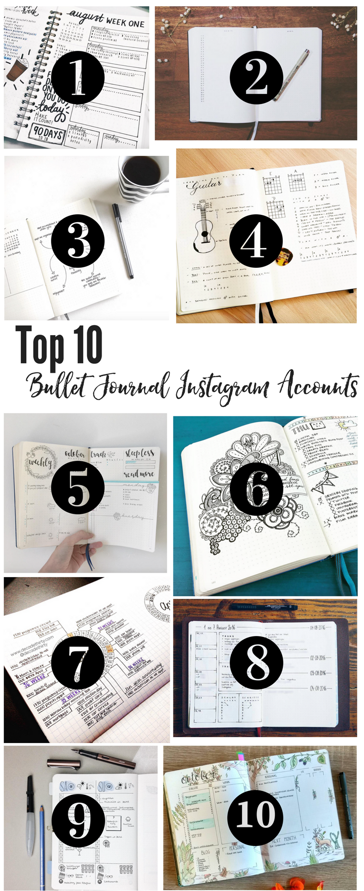Top 10 Instagram accounts for bullet Journal Ideas! bullet journal ideas | bullet journaling ideas | how to bullet journal | bullet journal layout | how to start a bullet journal | bullet journal collections | bullet journal tips | bullet journal pages |