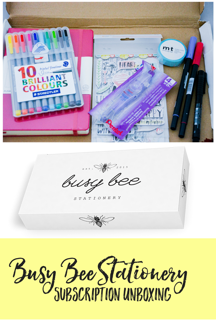 Planner Subscription Box Review | Busy Bee Stationery review | busy bee stationary | planner box | planner subscription | bullet journaling | bullet journal subscription | bullet journaling subscription | bullet journal ideas | bullet journal supplies | bullet journaling supplies