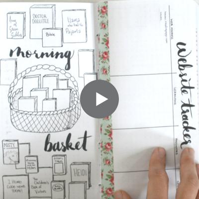 homeschool bullet journal video