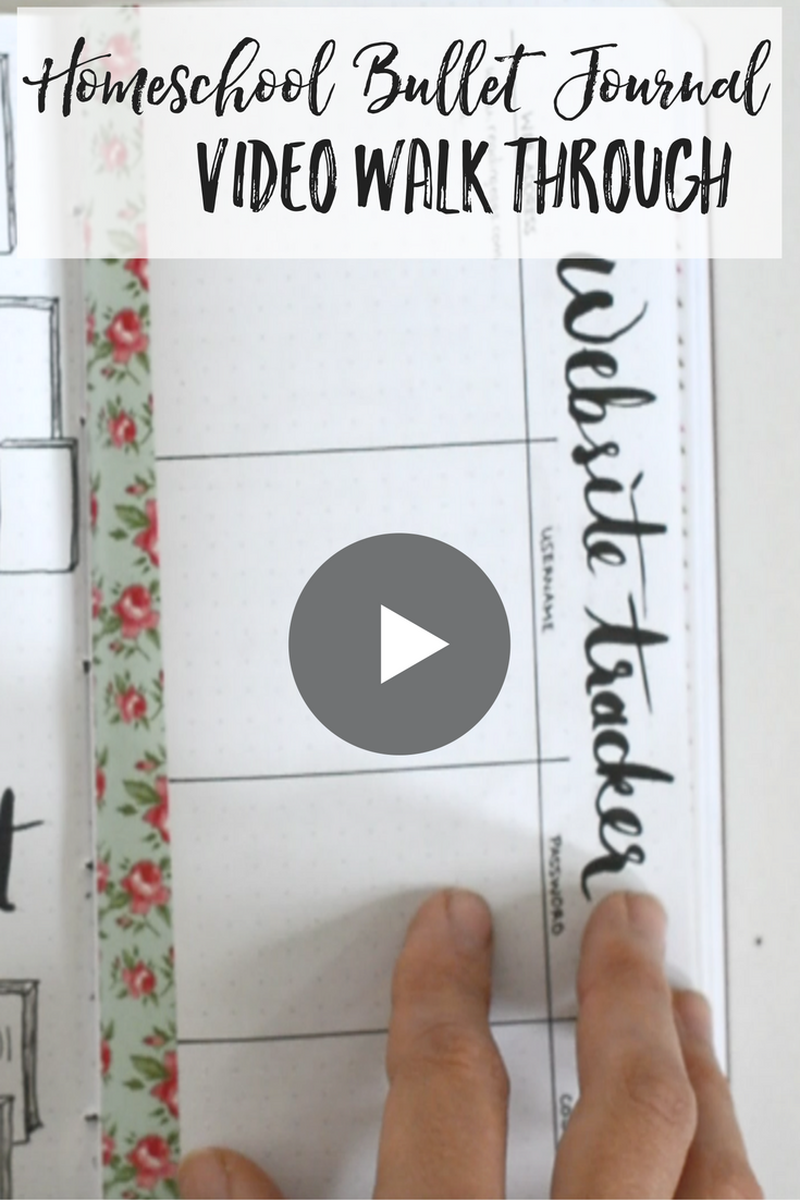 Homeschool Bullet Journal Video Walkthrough | homeschool bullet journaling | homeschool bujo | homeschool bullet journal ideas | homeschool bujo ideas | bullet journal ideas | bullet journal collections | bullet journal for school | school bullet journal