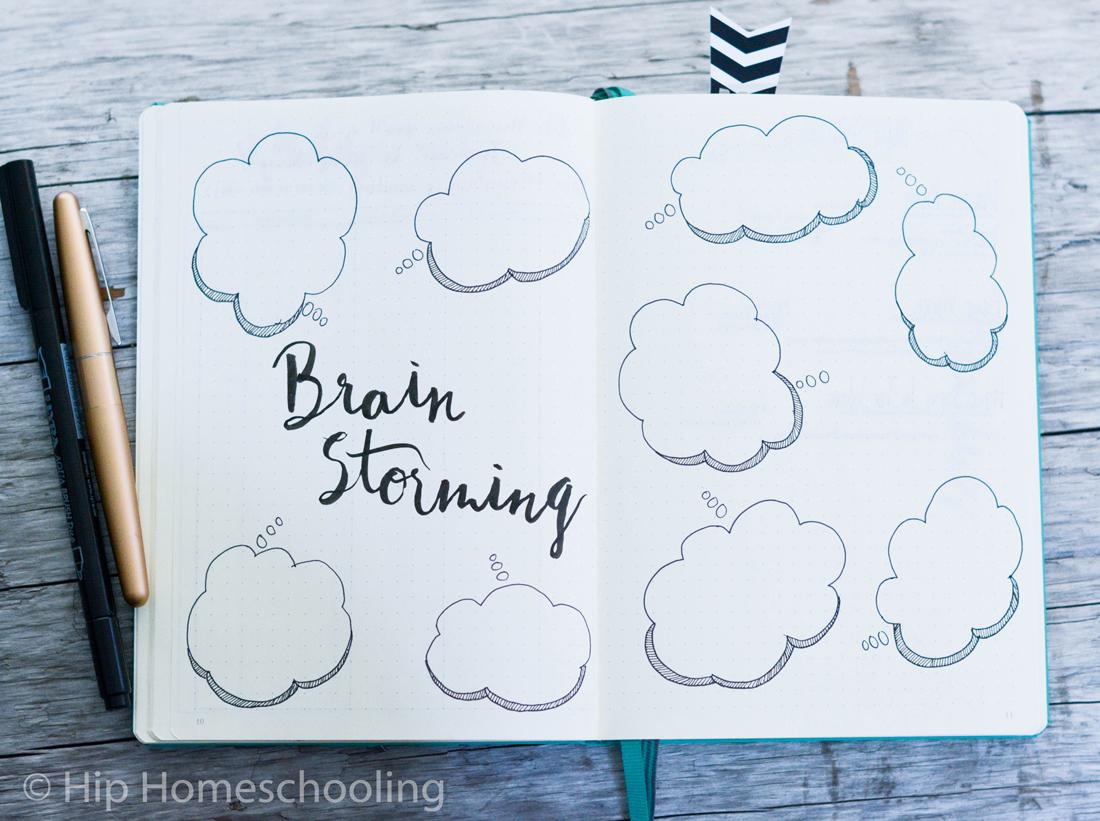 business bullet journal: brainstorming