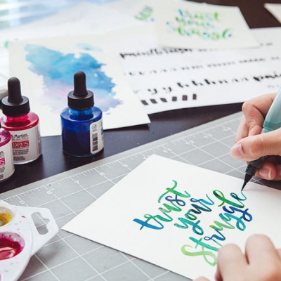 Brush Lettering for Beginners by Every Tuesday