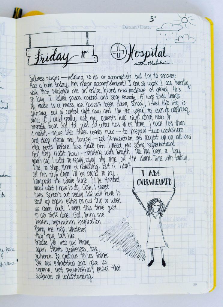 Bullet Journal Layout Idea: journaling style