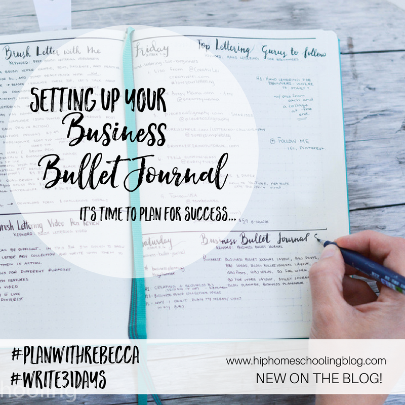Setting up your Business Bullet Journal