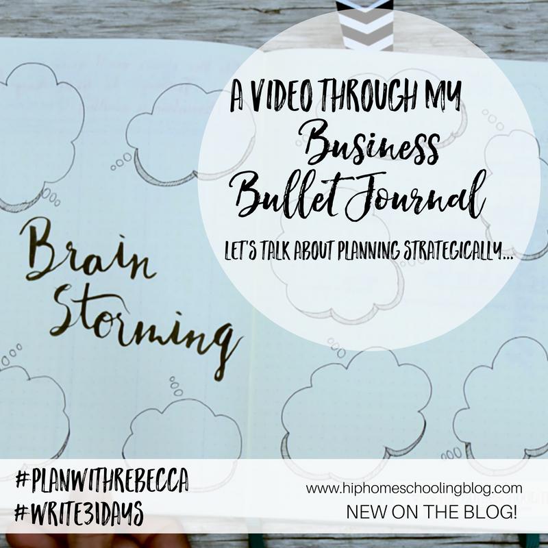 Business Bullet Journal Video