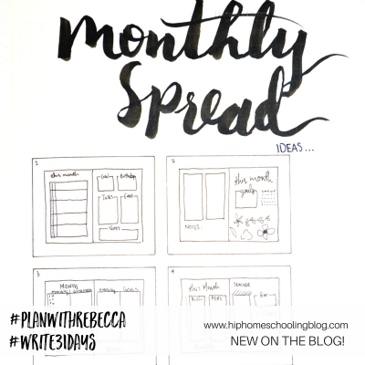 5 Monthly Spread ideas for your bullet journal