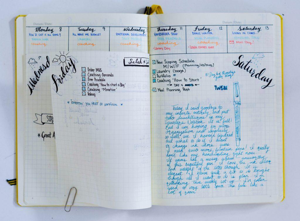 Bullet Journal Layout Idea: Dutch Door