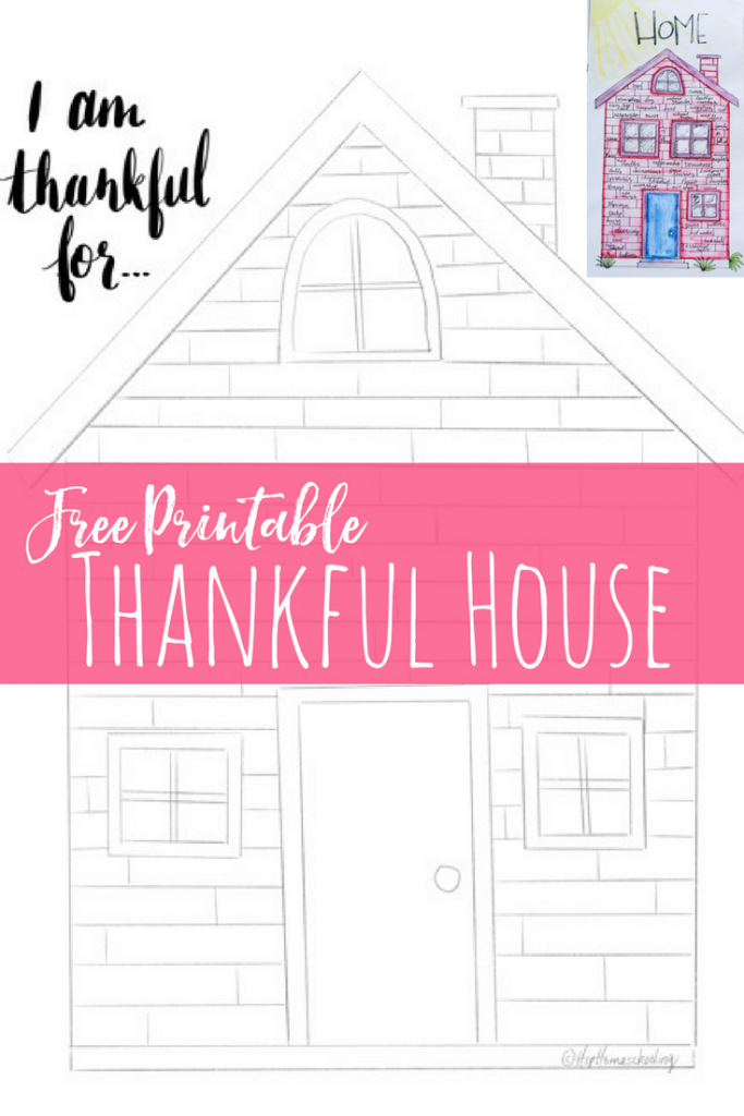 Free Printable Thankful House. thankful heart thanksgiving | thankful heart art | illustrated faith | bible journaling | illustrated faith journaling | illustrated faith printables | illustrated faith supplies | illustrated faith ideas | illustrated faith lettering | illustrated faith devotional | illustrated faith kit | illustrated faith inspiration | illustrated faith products | thankfulness quotes | thankfulness writing | thankfulness printable | gratitude journal | gratitude ideas | gratitude collection | gratitude practise | gratitude printable