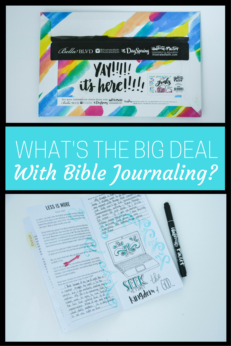 What's the big deal with Bible Journaling? Come find out what it did for this non-artsy mom! bible journaling | bible journaling for beginners | bible journaling ideas | bible journaling supplies | bible journaling lettering | bible journaling pages | how to start bible journaling | illustrated faith | goals with grace | bible journaling notebooks | bible journaling pens | bible journaling tabs | bible journaling inspire | beginner bible journaling | bible journaling art | bible journaling watercolor | bible journaling doodles | bible journaling tools | bible journal ideas | dayspring | womens devotionals | inspiration journals | homeschool encouragement