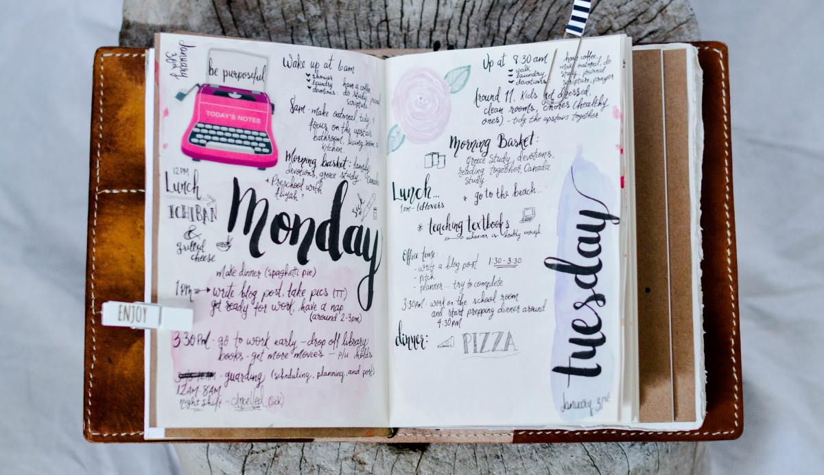 journaling in your daily planner