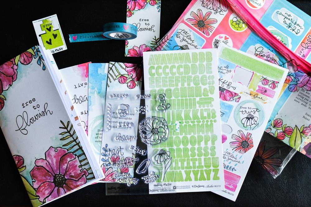 Free to Flourish: Illustrated Faith Devotional Kit | bible journaling | bible journal | bible journaling supplies
