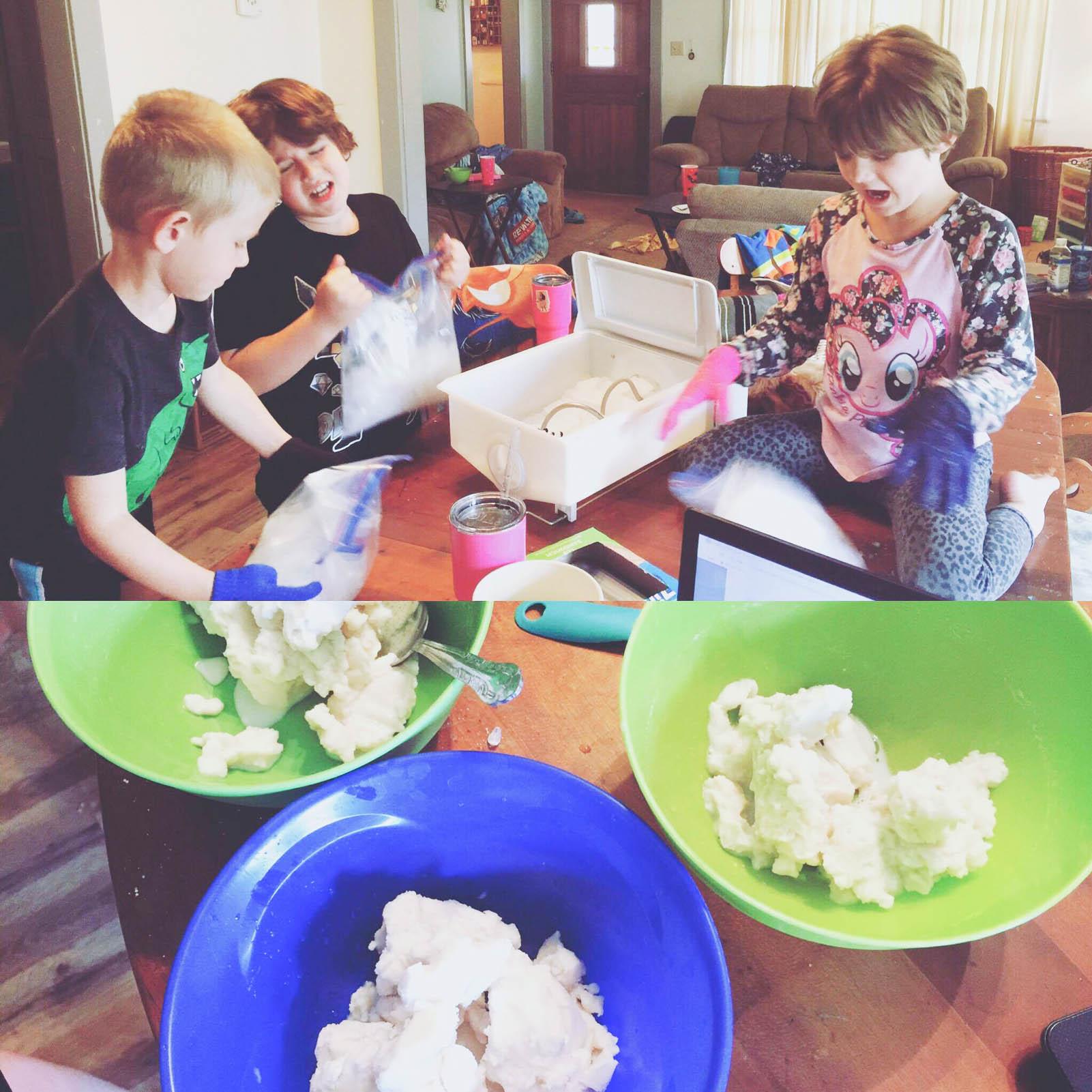 making homemade icecream tyler sandon