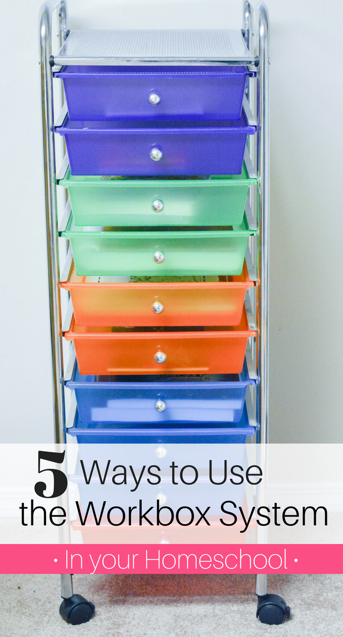 5 Ways to use the Workbox System in your Homeschool (this is a HUGE time saver!). homeschool workboxes | homeschool workboxes system | homeschool workboxes ideas | homeschool workboxes for kids | homeschool workboxes posts | homeschool workboxes pictures | homeschool workboxes tips | workbox system homeschooling | workbox system ideas | workbox system work station | workbox system classroom | workbox system pictures | workbox system large family | large family homeschooling | homeschooling multiples | homeschool organization | homeschool planning | homeschool blog | homeschool organization for small spaces | homeschool organization ideas | homeschool organization storage