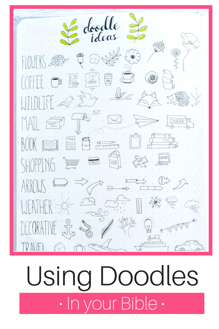 using doodles in your bible, you CAN do it! bible journaling | doodles to live by kit | illustrated faith | bible journaling ideas | bible journaling inspiration | how to bible journal | bible art | doodles | doodling | how to doodle