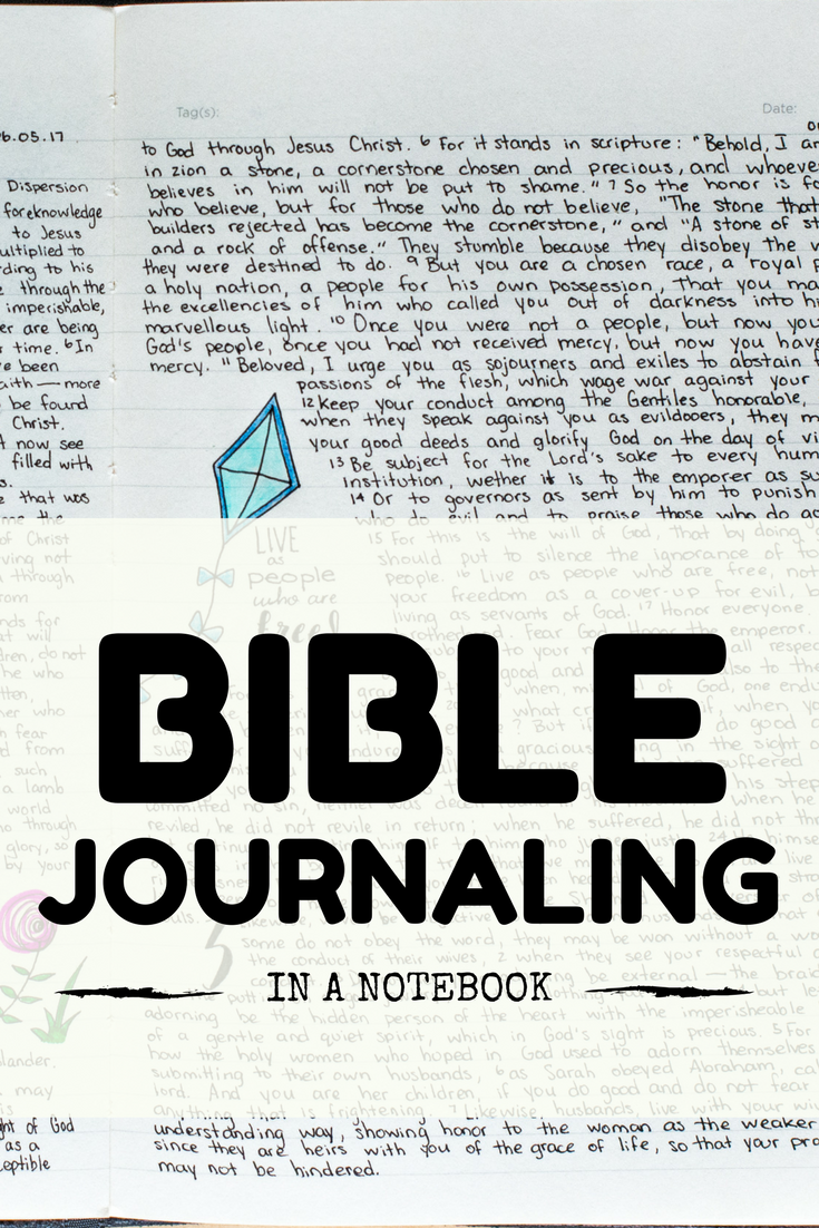 Bible Journaling in a notebook (this doesn't have to be complicated) | bible journaling | scripture journaling | bible journal | bible journaling ideas | bible journaling for beginners | simple bible journaling | easy bible journaling | how to bible journal | illustrated faith bible journaling | illustrated faith rise up kit | rise up devotional kit | illustrated faith devotional kit review | bible journal blogger | jesus journal | scripture journal