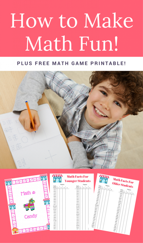 How to make math fun plus a free printable math game! stem learning | math games | free math games | free math printables | free math printable | math printables for elementary | multiplication math printable | addition math printable | addition math game | subtraction math game | multiplication math game | division math game | fun math game | math games for kids | free printable | homeschool printables | homeschool ideas