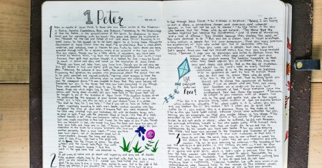 Bible Journaling in a Notebook