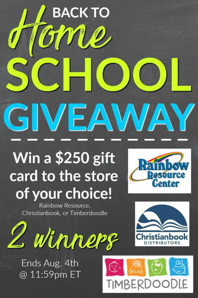 Back to Homeschool Giveaway - Win a $250 gift card to the store of your choice - 2 winners! | homeschool giveaway | homeschooling tips | homeschool curriculum | homeschooling curriculum | homeschool language arts | homeschool math | homeschool reading | homeschool ideas | homeschool for free