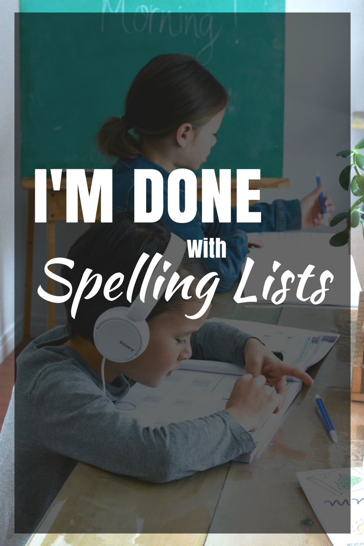 I'm done with spelling lists, they were't working for my kids! I found a program that builds context, uses repetition, and visual and auditory learning cues to help the words go to long term memory. Spelling You See is an AWESOME program, learn how we use it with our 4 kids on the blog!
