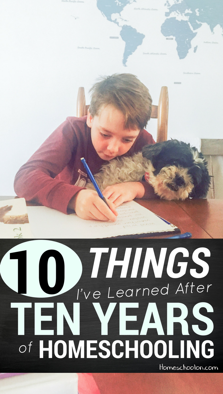 10 Things I've Learned After 17 Years of Homeschooling: a Veteran shares her top tips! If you are new to homeschooling or in need of some homeschool encouragement, check out this post!