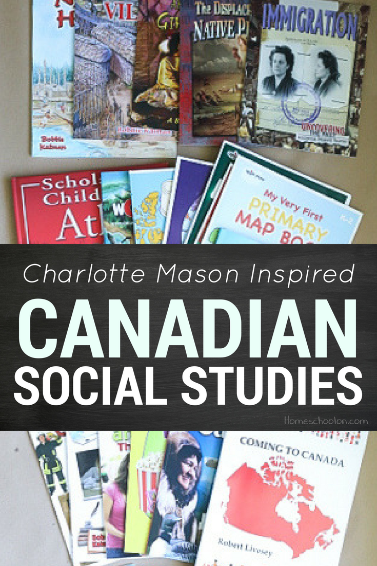 Canadian social studies doesn't have to be boring! I am creating a homeschool loop that is Charlotte Mason inspired to teach my kids Canadian History, Canadian geography, Canadian Governement, and First Nations studies to meet all the outcomes from K-5 in one year! Get the free printable reading plan and join us in this Charlotte Mason inspired Canadian Social Studies!