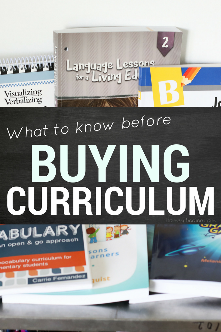 What you need to know before buying curriculum