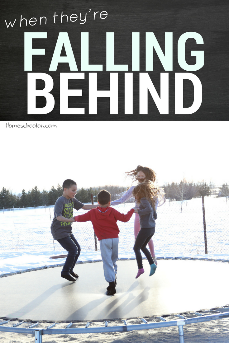 When your homeschool child is falling behind... don't panic! Come listen to this podcast episode and let's talk about homeschool goals, understanding our child's needs and finding peace in the process. #homeschooling