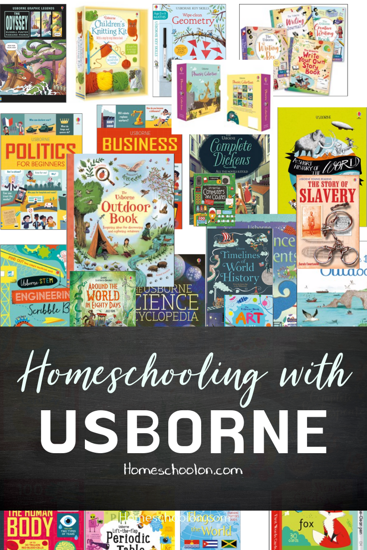 Looking for resources books to add to your homeschool day? Find out how I homeschool with Usborne for our morning basket, readers, poetry tea time, science, history, art, geography, and more! Homeschooling with usborne is easy with this list! #homeschool #homeschooling