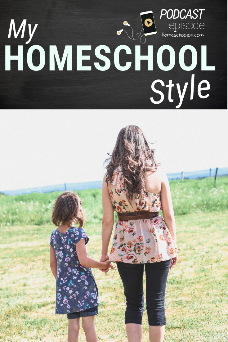 My homeschool style with 5 kids isn't perfect, it can be a bit messy, I have off days. Come listen to the latest podcast episode and be encouraged... you are not alone! #homeschool #homeschooling
